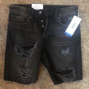 H&M Destroyed denim unisex shorts